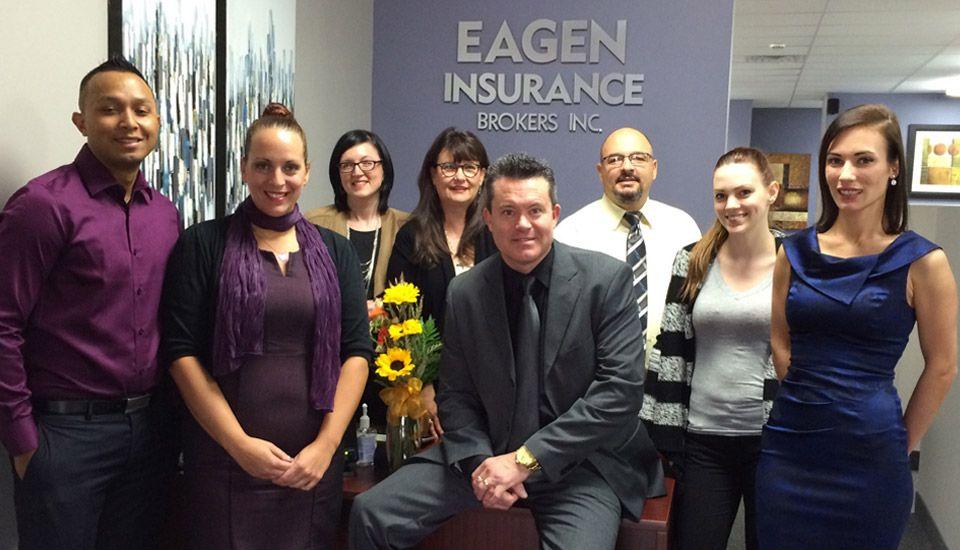 Eagen Insurance Brokers Inc. team at the front desk